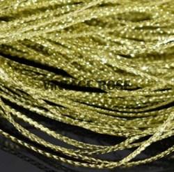 Сутаж тонкий, светлое золото, 1 мм - фото 12390