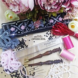 Люневильский крючок БЕЗ ИГЛ бренда Vintage Rose Шахматы, шоколадный цвет - фото 14883