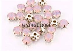 Стразы в цапах, 4мм, розовый опал, серебро (Розовый) - фото 15136