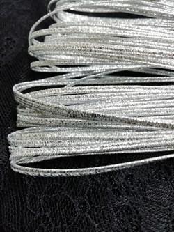Сутаж металлизированный диаметр 1,9 мм Серебро (Серебро) - фото 15194