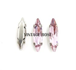 Стразы в цапах Розовый 10 шт/уп - фото 15373