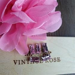 Стразы в цапах, 5*10 мм, Розовый, 5 шт/уп - фото 16458