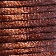 Шнур атласный, 1 мм. Коричневый