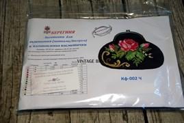 Набор для изготовления косметички Роза на черном