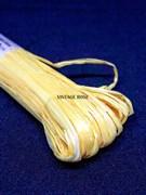 Рафия для вышивки, Желтая матовая, ширина 5 мм Индия