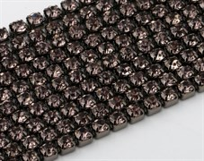 Лента из страз 2 мм, Дымчатая в черном