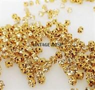 Стразы в цапах, 4мм, бриллиант, золото