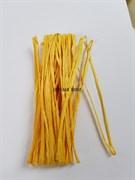 Рафия для вышивки, св.оранжевая матовая 5 мм ширина. Индия