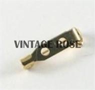Булавка для броши с 2-мя отверстиями, 21 мм, с золотым покрытием