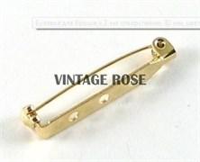 Булавка для броши с 3-мя отверстиями, 32 мм, с золотым покрытием (Золотой)