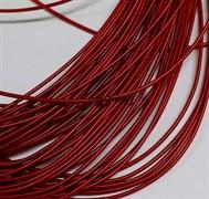Жесткая (жемчужная) канитель, 1 мм, Темно-красная (Красный)