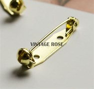 Булавка для броши с 2-мя отверстиями, 21 мм, золото