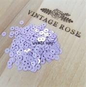 Пайетки 4мм плоские Lilac M2 #5009 Италия, металлик