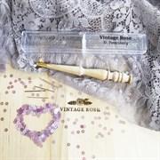 Люневильский крючок с 4-мя иглами бренда Vintage Rose Шахматы, ванильный цвет