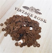 Пайетки 4мм плоские Brown M2 #8189 Италия, металлик