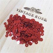 Пайетки 4мм плоские Red Brick MT #4119 Италия, металлик