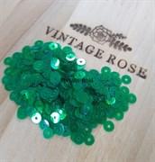 Пайетки 4мм плоские Emerald IR #7400 Италия, прозрачные с перламутром