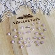 Стразы в цапах, 4мм, розовый опал, серебро (Розовый) - фото 14051