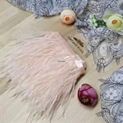 Перья страуса на ленте, персиковые (Бежевый)