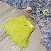 Перья страуса на ленте, желтые (Желтый)