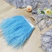 Перья страуса на ленте, голубые (Голубой)