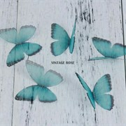 Бабочка из органзы, зеленые, 50 мм, 1 шт (Зеленый)