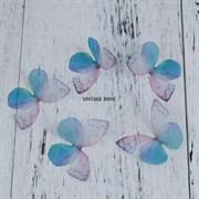 Бабочка из органзы, сине-розовые, 50 мм, 1 шт (Синий)