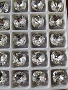 Стразы Премиум в ювелирных кастах, 10 мм, Crystal, 2 шт/уп