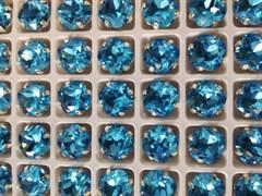 Стразы Премиум в ювелирных кастах, 10 мм, Aquamarine, 2 шт/уп (10 мм)