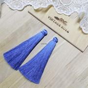 Вискозные кисточки для сережек 9,5 см, Светло-синие