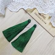 Вискозные кисточки для сережек 9,5 см, Темно-зеленые