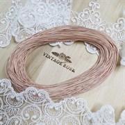 Жесткая (жемчужная) канитель, 1 мм, Розовое золото