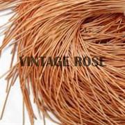 Канитель мягкая, 1 мм, Ярко-оранжевый глянцевый, 130 см