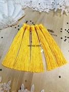 Вискозные кисточки для сережек 12 см, желтые