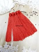 Вискозные кисточки для сережек 12 см, красные