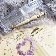 Люневильский крючок БЕЗ ИГЛ бренда Vintage Rose Шахматы, ванильный цвет - фото 14878
