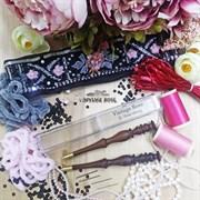 Люневильский крючок без иголок бренда Vintage Rose Шахматы, шоколадный цвет