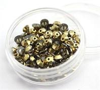 Пайетки хрустальные 4 мм золото 10 шт /уп (4 мм)