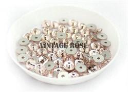 Пайетки хрустальные 4 мм розовые 50 шт /уп (4 мм)