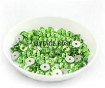 Пайетки хрустальные 4 мм травянистый 50 шт /уп (4 мм)