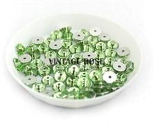Пайетки хрустальные 4 мм св.зеленый 50 шт /уп (4 мм)