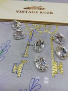 Стразы Премиум в ювелирных кастах, ОВАЛ 10*14 мм бриллиант 1 шт.