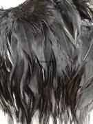 Перья марабу на ленте 10-15 см черные