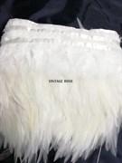 Перья марабу на ленте 10-15 см белые 1 метр
