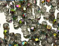 Чешские граненые бусины 3 мм кристалл радужные G10