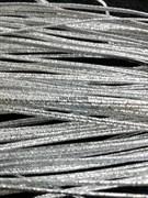 Сутаж металлизированный диаметр 1,9 мм Серебро (Серебро) - фото 15195