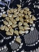 Бусины капля 5*8 мм матовое золото 10 шт/уп