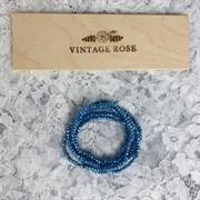 Граненые бусины, Светло-синие жемчужные, 3 мм, Чехия