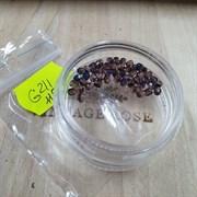 Чешские граненые бусины 3 мм Фиолетовый Радужный G211