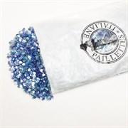 Пайетки 3мм плоские Синие АВ #0705В/3мм Италия,  прозрачные АВ